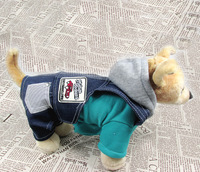 New Fake Two-piece Style Pet Dog Jeans Strap Jumpsuit Overalls Cowboy Clothes Small Dogs Autumn Winter Clothing S M L XL