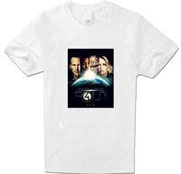 100% Cotton Fantastic Four Pattern t shirt Men Comfortable Short Tee Tops Men Women