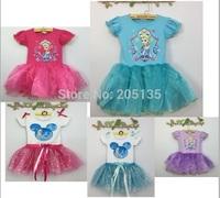 2014 Hight Quality Summer baby girls dress fashion children Bow Princess dress baby short sleeve dress