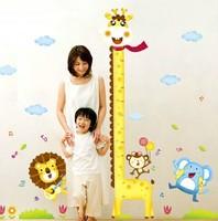 Cartoon Giraffe Stickers Children Height Posted Wall Stickers Kindergarten Decoration Wall Sticker for Kids Room