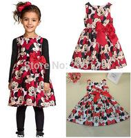2015 Hot Summer baby girls dress Children clothing kids Princess dress casual dot sleeveless party dress Wholesale