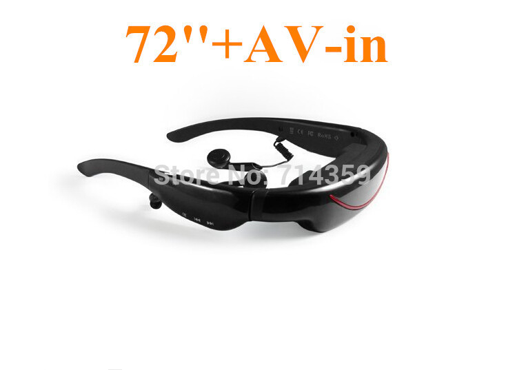 HOT SELLING!32GB Video Glasses Mobile Theater with 72inch 16:9 Wide Screen Bulit-in 4GB Memory, VG320A(China (Mainland))