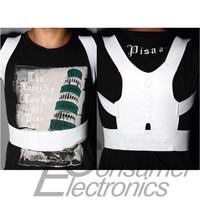 1pcs White back beltMagnetic Posture Support Corrector Body Back Pain Shoulder Drop Shipping Wholesale
