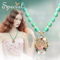 Special Spring New Arrival Fashion Necklaces & Pendants Victoria Style Flowers Free Shipping Gifts For Girls Women XL150205
