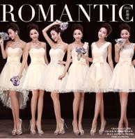 Bridesmaid dress 2015 autumn and winter slim short design bridesmaid formal dress bridesmaid dress sister dress formal dress