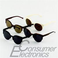 1pc Fashion Unisex Retro Round Circle Frame Semi-Rimless Sunglasses Newest