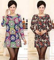 18 colors M-5XL 2015 new fashion large size women plus size Slim long-sleeved dress fashion winter dress