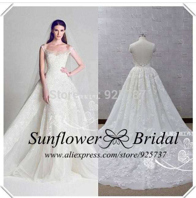 Elegant Tulle A Line Sweetheart White weeding dress 2015 bohemian wedding dress Long Train grace loves lace wedding dresses(China (Mainland))