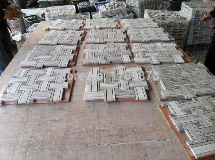 Wooden white mosaic tile,Mosaic tile,Wood white wall tiles/floor tiles(China (Mainland))
