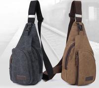 fashion men's chest  canvas bag men small bag multifunctional outdoor bag