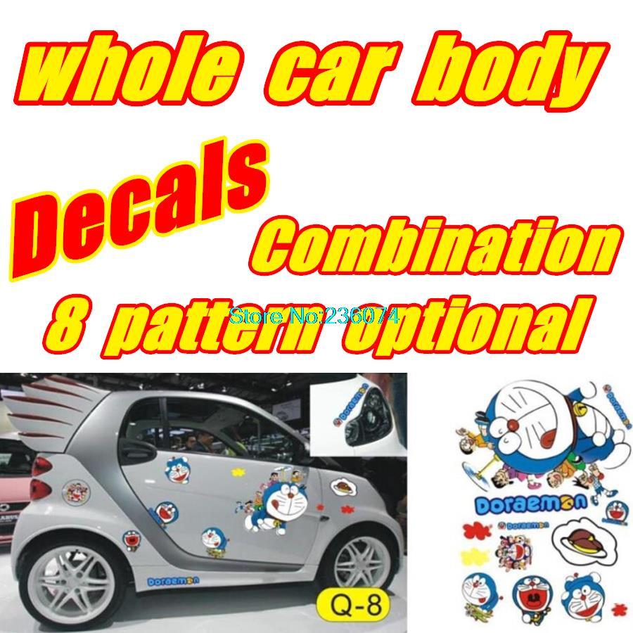 whole vehicle body Decals DIY Cartoon Moss Doraemon Doll dog cartoon Car & Motorcycle stickers(China (Mainland))