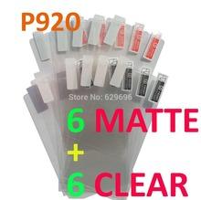 12PCS Total 6PCS Ultra CLEAR + 6PCS Matte Screen protection film Anti-Glare Screen Protector For LG P920 Optimus 3D