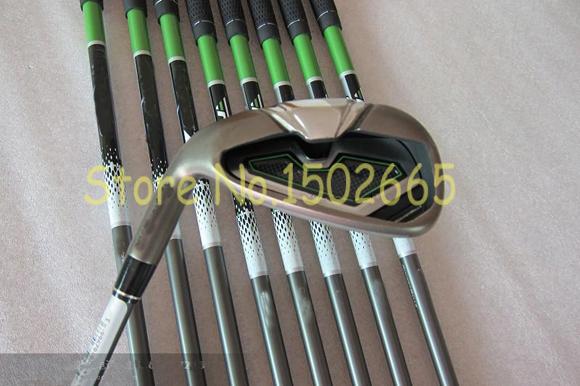 Left handed golf clubs Rocketballez irons set 4-9#,PAS graphite shaft regular flex golf irons 9pcs right hand free headcover(China (Mainland))