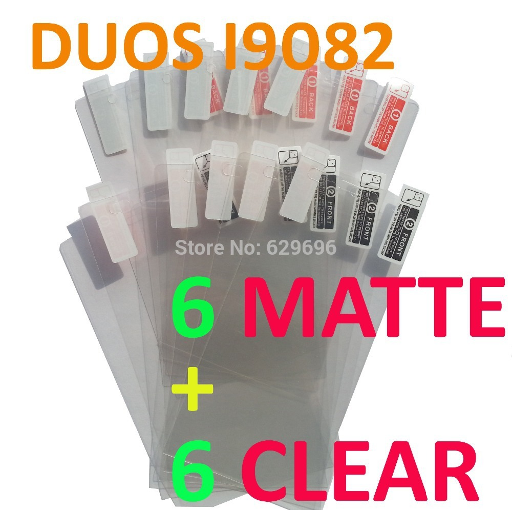 6pcs Clear 6pcs Matte protective film anti glare phone bags cases screen protector For Samsung Galaxy