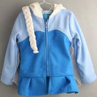 2015 Snow Queen coat girls Hoodies costume braid jacket clothing for children girls hoodies Fleece baby & kids coat winter