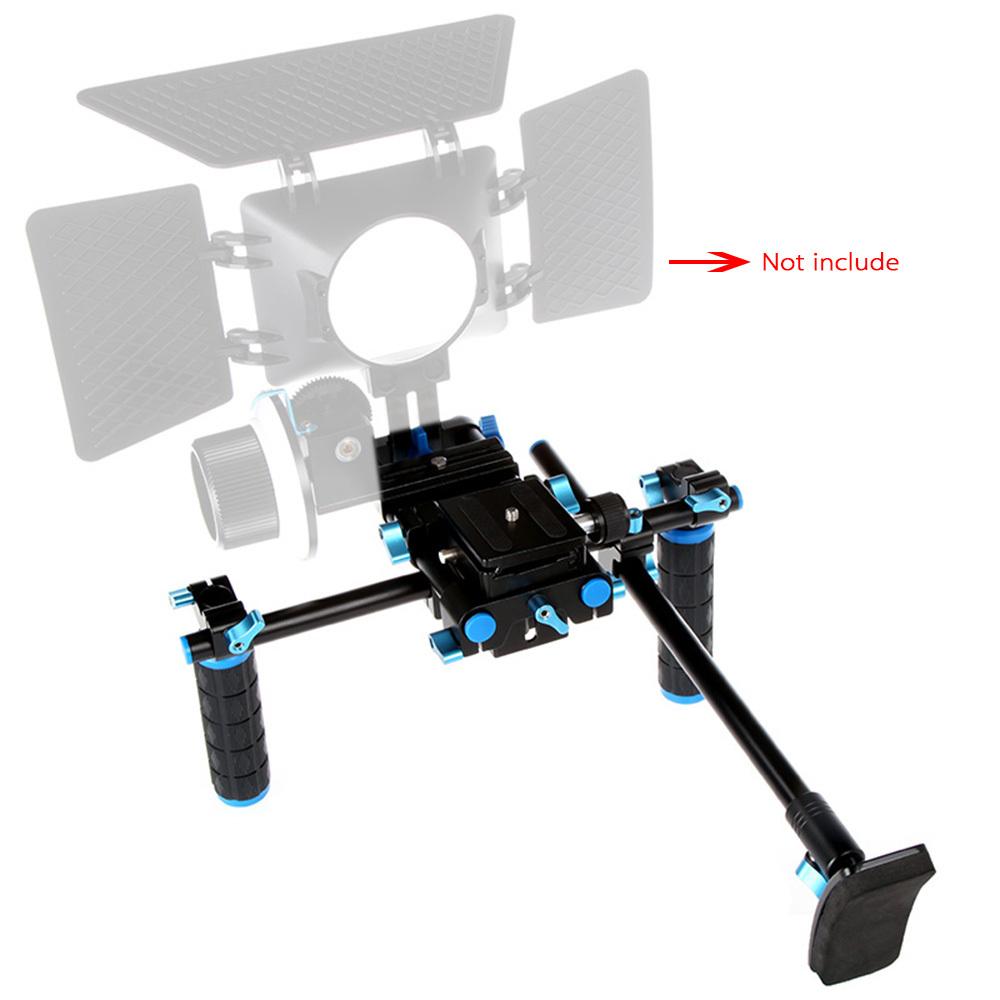 Commlite CS-V1 High strength aluminum alloy Photo Studio Accessories Video Rig Bracket for DSLR Cameras DV Camcorder(China (Mainland))