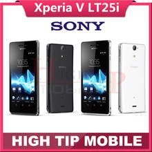 Original unlocked Sony Ericsson Xperia V LT25 LT25i Dual Core 3G&4G GPS Wifi 13MP 8GB Storage Android Refurbished Mobile Phone(China (Mainland))