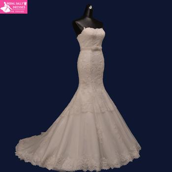 Халат де Mariage модные без бретелек русалка свадебные платья с створки кружева свадебное платье Vestido де Noiva Casamento 2015 MM02