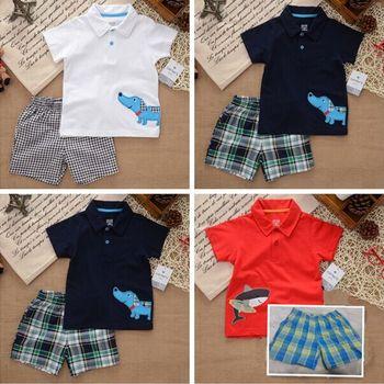 Новый картер марка детская одежда комплект, новорожденный, лето, ребенок мальчик одежда, комплект, футболка + брюки костюм, детская одежда, детская одежда