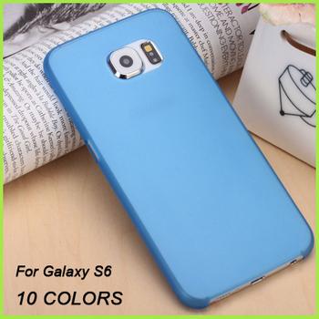 100 шт. / l 2015 новый 0.3 мм ультра тонкий пластик прозрачный матовый пп телефон чехол обложка чехол для Samsung Galaxy S6 G9200