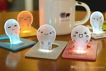 24pcs/lot Lovely Expression Card Light Mini Portable Table Lamp Energy Saving Nightlight L301 (Hong Kong)