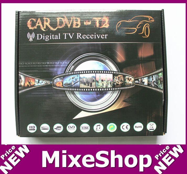 1pcs New Car DVB T2 Car TV Receiver T2 Tuner Dual Antenna 80-120km/h H.264 MPEG4 Mobile Digital TV Box External USB(China (Mainland))