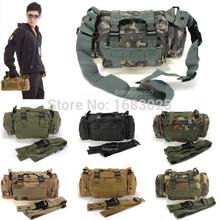Diseño Retro 7 colores Utility Tactical paquete de la cintura bolsa militar que acampa yendo deporte exterior ajustable bolso impermeable de Nylon(China (Mainland))