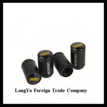 4caps/set matte black automobile wheel tire tyre valve cover caps with XUEFULAN car logo brands