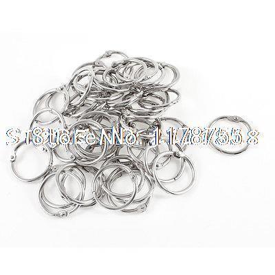 50 Pcs Metal 30mm Outer Diameter Loose Leaf Binder Ring for Scrapbooking Book(China (Mainland))