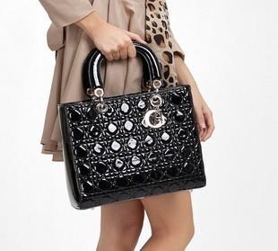 2015 New Women Handbags fashion red patent leather handbag vintage shoulder bags Classic Black brand Lady tote Free Shipping(China (Mainland))