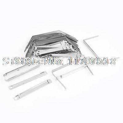 50 x Metallic Organizer Binder Documents Binding Clips Paper Fasteners(China (Mainland))