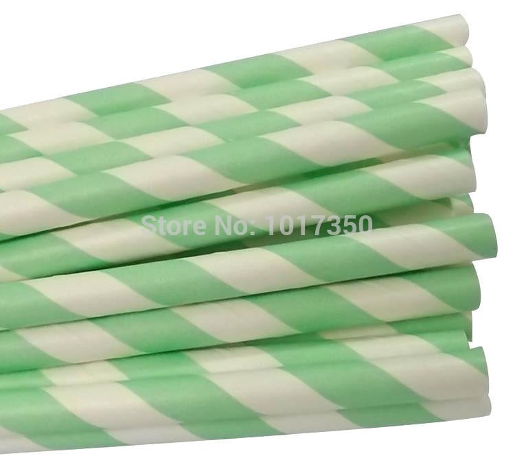 Free Shipping 25pcs/lot Wedding Birthday Party Drinking Straws mint green Paper Straws cupcake Decoration favor 566C(China (Mainland))