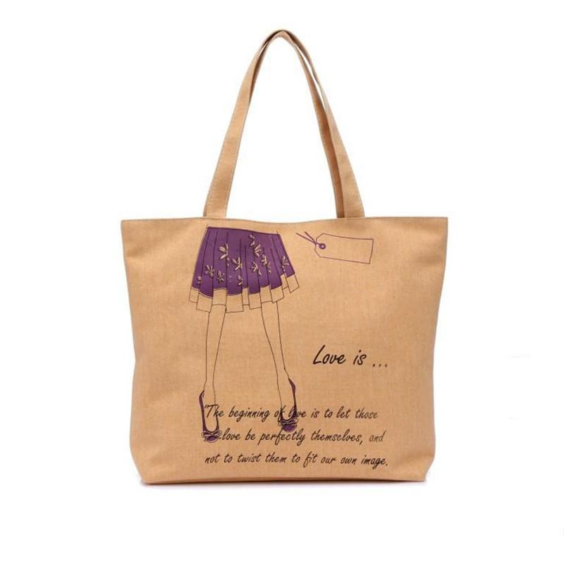 2015 cartoon large canvas casual and fashion handbags women ladies handbag women travel shopping&school shoulder lunch bag(China (Mainland))