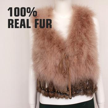 Новая весна для 2015 настраиваемый реальные естественно индейки перо жилет марка Высокое качество короткий женская одежда Colete