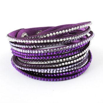 Фирменное наименование кристалл кожа женщины плетёные браслеты и браслеты девять ...