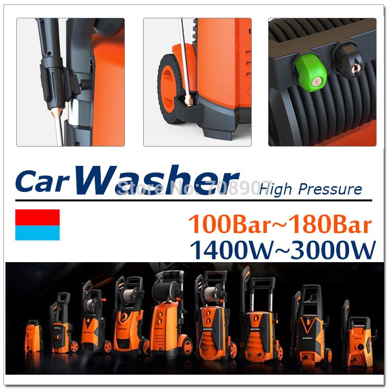Yili de pressão carro Washer_YLQ 4650C-100A_1400W 100Bar_MINI Washer_Portable washer_Olesecu de pressão lavador de carros por atacado(China (Mainland))