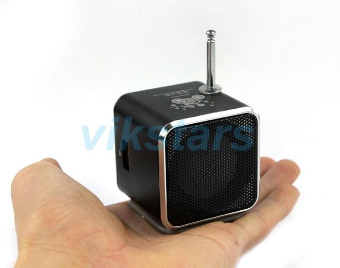 2014 Hot sale LED Display portable FM Radio Speakers New Micro SigitaD TF Card D linternet