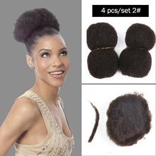 "YOTCHOI 4PCS/LOT TIGHT AFRO KINKY BULK HAIR 100% HUMAN HAIR FOR DREADLOCKS,TWIST BRAIDS DARK BROWN 2# AND 4#,LENGTH 8""-26""(China (Mainland))"