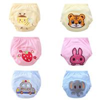 6 Styles cartoon print Character waterproof cotton potty training pants/Children's diaper pants/Baby underwear