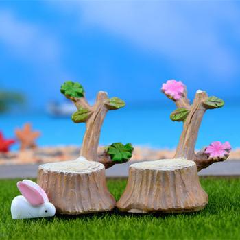 Симпатичные пень мини украшения смола изделия подарочные микро стул фея миниатюрный садовый гном мосс террариум бонсай декор для дома