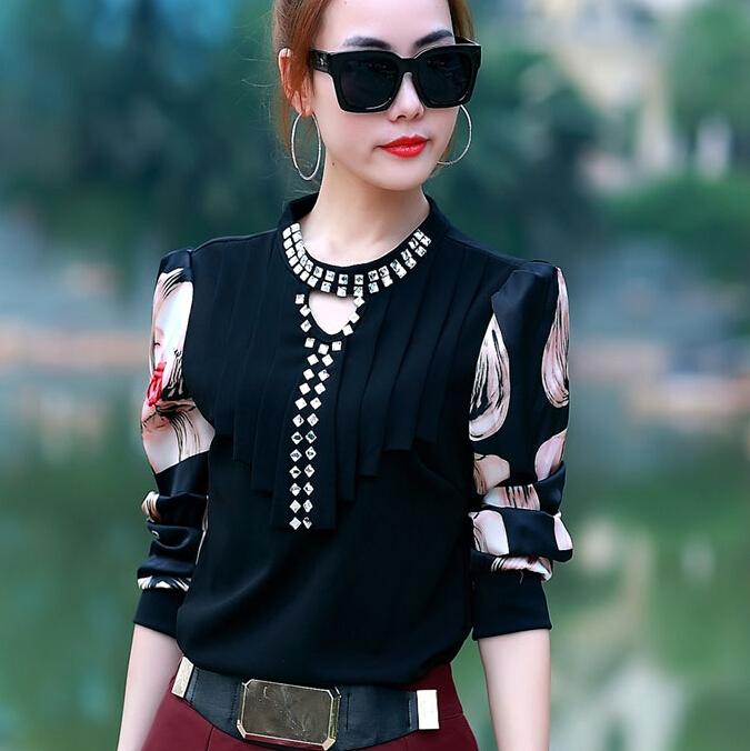 girl 2015 new Spring fashion women shirts blouses long sleeve blusas femininas roupas woman shirt Sequin tops plus size M L ~XXL(China (Mainland))