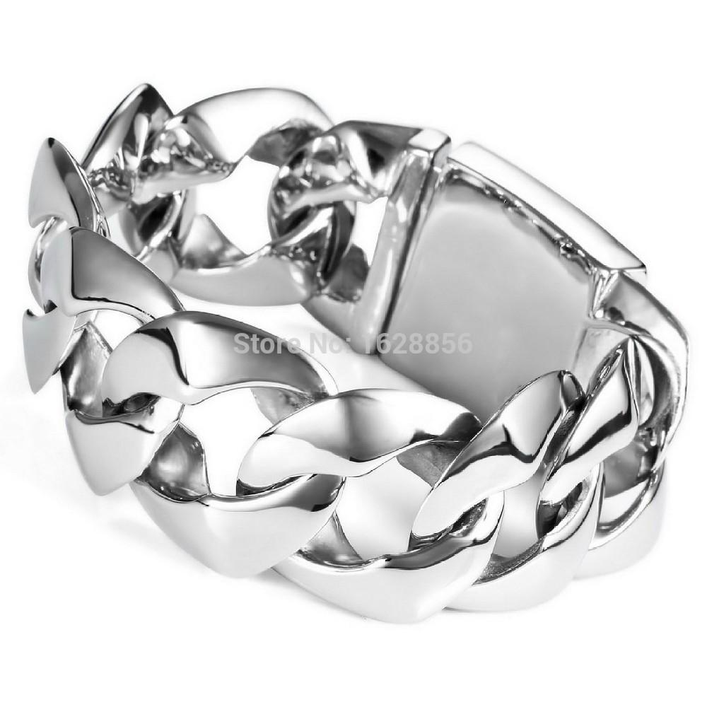 bracelet ethnic Stainless Steel Men's New Fashion Men Jewelry 2014 15MM 316L Stainless Steel Bracelet Wholesale Jewelry(China (Mainland))