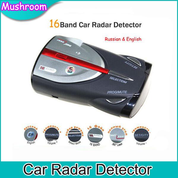 High Quality Car DVR Anti Radar Detector Cobra XRS 9880 Full Band High Performance Russian & English Language Free shipping(China (Mainland))