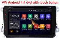 "8"" Pure Android 4.4.4 VW Car DVD GPS with Touch button Radio GOLF 6 new Polo Bora JETTA MK4 B6 PASSAT Tiguan SKODA OCTAVIA Fabia"