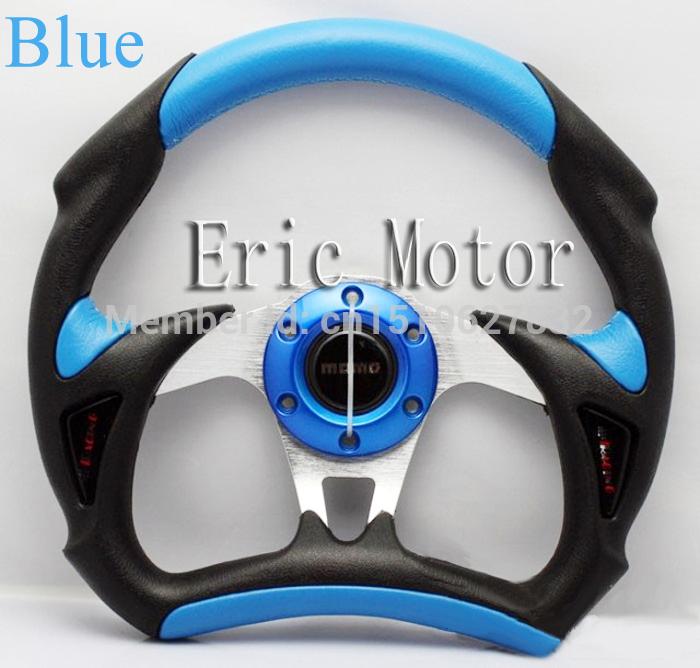 Racing wheel universal modified momo steering wheel steering wheel blue free shipping(China (Mainland))