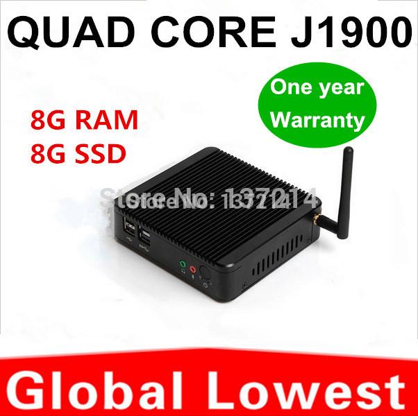 hot mini pc linux xbmc mini itx 2 lan J1900 8g ram 8g ssd Support Keyboard, Image scanner(China (Mainland))
