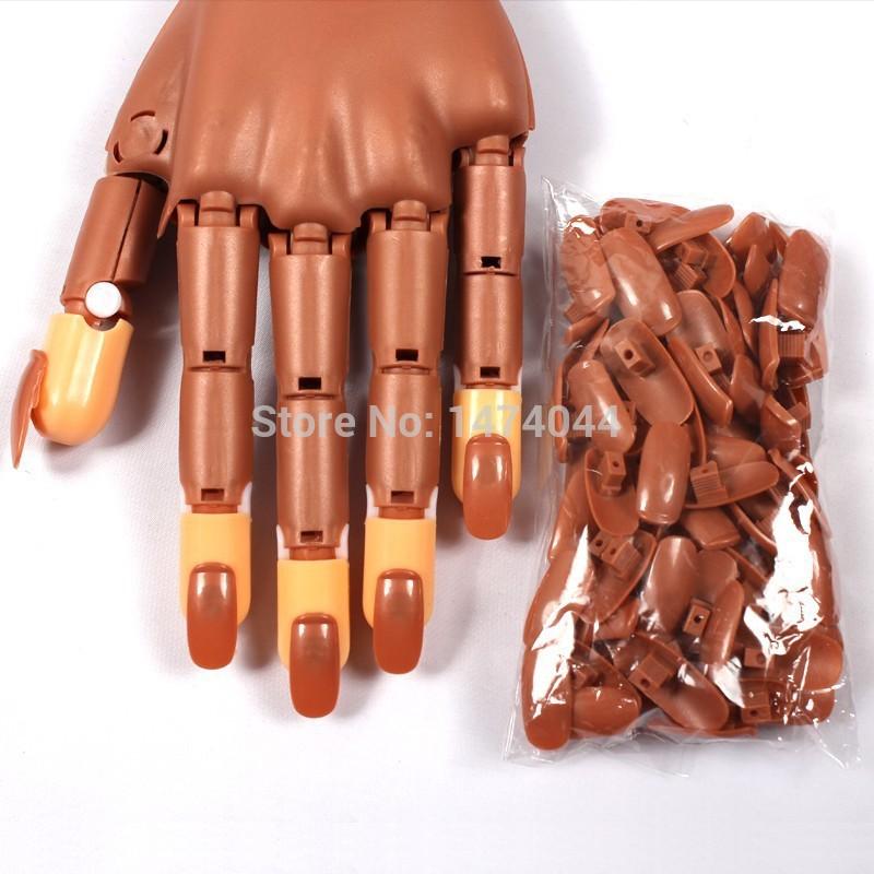 100 Pcs/ Set Refill False Nails For Fake Hand Practice Use Nail Training Hand Displays Salon Home Practice Fake Refit Tips(China (Mainland))
