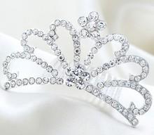 2015 Korean Rhinestone An Crown Fashion Bride Marriage Comb Crowns And Tiaras Bobby Pins For Hair