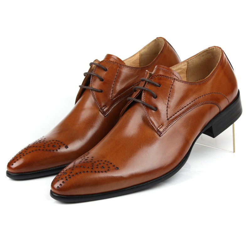 top quality 2015 fashion mens dress shoes genuine leather
