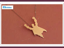 30pcs New Fashion Gold Girl Super Hero Pendant Necklace Lady Silver Party Women Animal Superman Charm Necklace